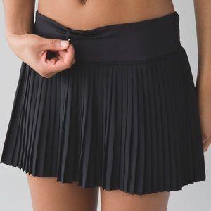 Lululemon Pleat to Street II Skirt, Black, Size 2